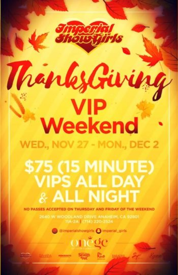 THANKSGIVING VIP WEEKEND